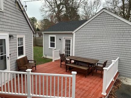Dennis Cape Cod vacation rental - Porch off of kitchen and bonus room