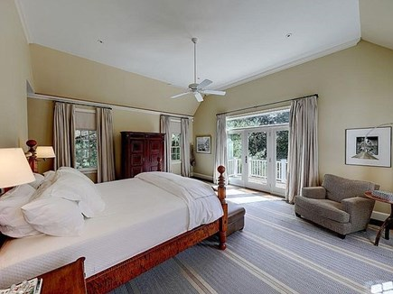 Marstons Mills, Barnstable Cape Cod vacation rental - First Floor master bedroom and balcony with water views