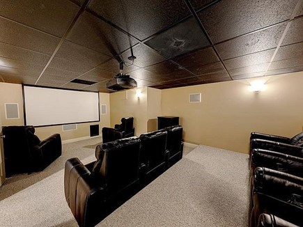 Marstons Mills, Barnstable Cape Cod vacation rental - Home Theater in basement