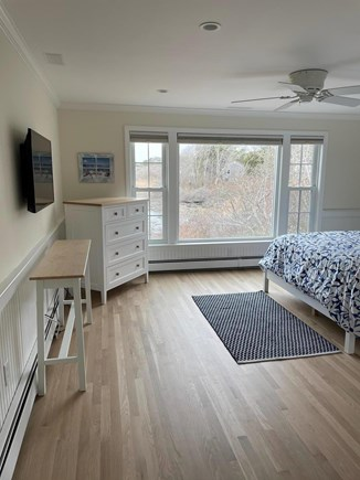 South Chatham Cape Cod vacation rental - Master with wall mounted flat screen TV