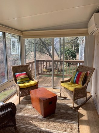 Orleans Cape Cod vacation rental - Porch overlooking yard & old cranberry bog