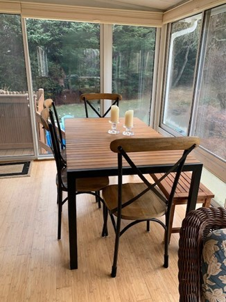 Orleans Cape Cod vacation rental - Enjoy dining on the porch overlooking yard and birdlife