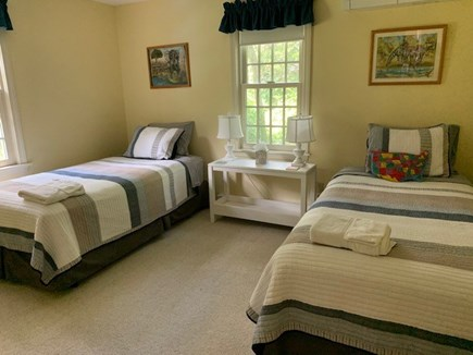 Orleans Cape Cod vacation rental - Bedroom with extra long twin beds with Sterns-Foster mattresses.