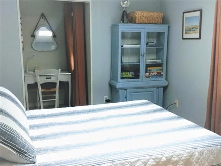 Yarmouth Cape Cod vacation rental - Master bedroom with a new queen bed and a quiet writing nook.