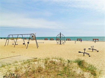 Yarmouth Cape Cod vacation rental - Parker River Beach with playground, gazebo, sand, sun, and sea.