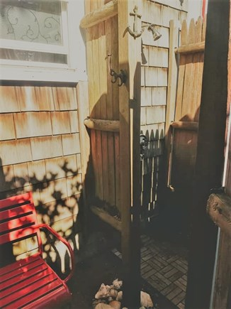 Yarmouth Cape Cod vacation rental - Enclosed outdoor shower with changing area.