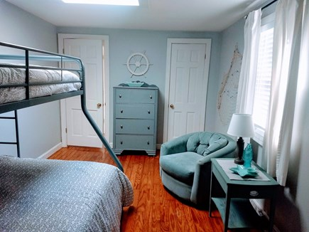 Yarmouth Cape Cod vacation rental - 2nd Bedroom with a new twin/double bunk bed and new mattresses.