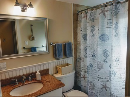 Yarmouth Cape Cod vacation rental - Bathroom with shower/tub.