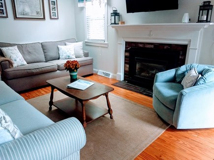 Yarmouth Cape Cod vacation rental - Comfortable living room with a double sleeper sofa.