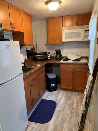 Dennisport Cape Cod vacation rental - Kitchen- cooktop, toaster oven, keurig, instant pot, drip coffee