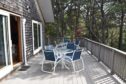 Wellfleet Cape Cod vacation rental - Step out on the deck from the living area