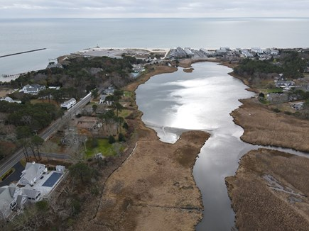 South Yarmouth Cape Cod vacation rental - Drone pic back deck views