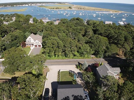 South Yarmouth Cape Cod vacation rental - Drone pic of the front of house view