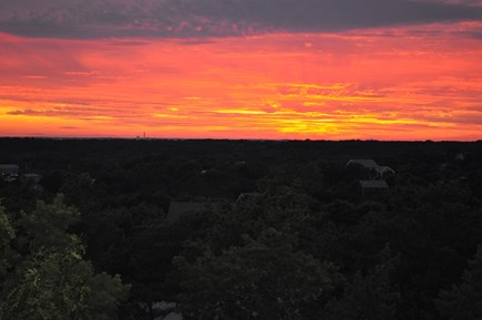 Truro Cape Cod vacation rental - Sunset from West Deck