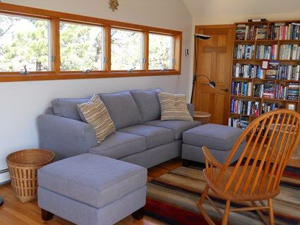 Truro Cape Cod vacation rental - Living Room with Living Library-2nd floor