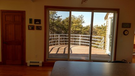 Truro Cape Cod vacation rental - West Deck View from Kitchen-2nd floor