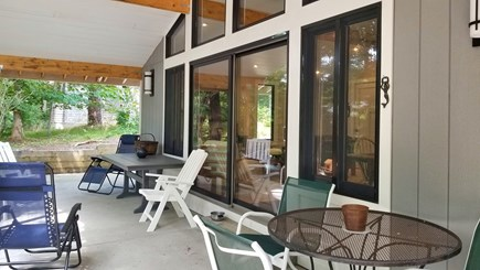 Wellfleet Cape Cod vacation rental - Relax with a book and a beverage on the covered patio