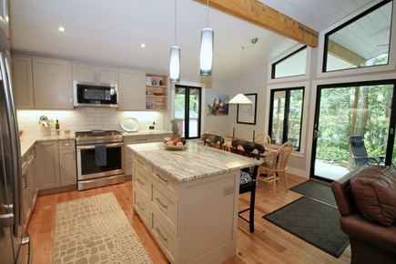 Wellfleet Cape Cod vacation rental - Fully equipped kitchen with marble countertops