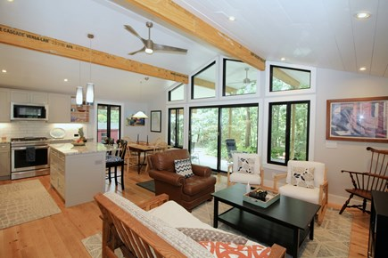 Wellfleet Cape Cod vacation rental - Open main living space with plenty of comfortable furniture