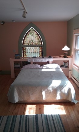Wellfleet, Down Town Village Cape Cod vacation rental - Bedroom in Main house accessed by back staircase off the kitchen