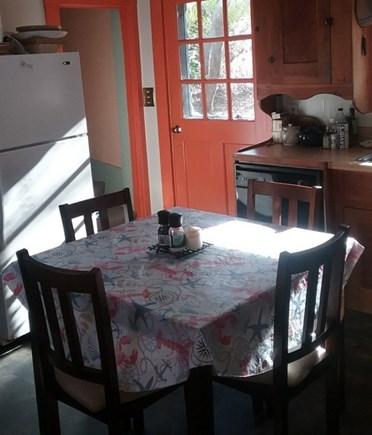 Wellfleet, Down Town Village Cape Cod vacation rental - Kitchen with door to deck