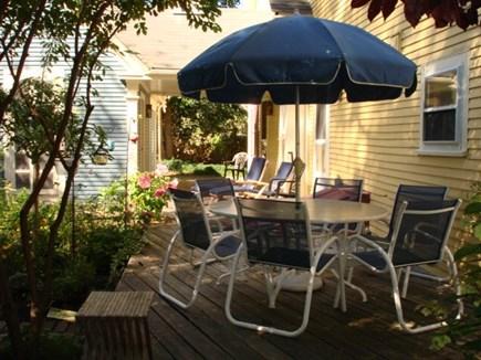 Wellfleet, Down Town Village Cape Cod vacation rental - Deck between main home & back unit