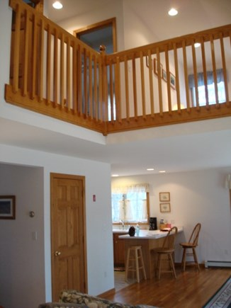 Wellfleet Cape Cod vacation rental - Looking up to loft from living room