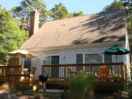 Wellfleet Cape Cod vacation rental - Fun deck out back, for sunning, eating, BBQ!