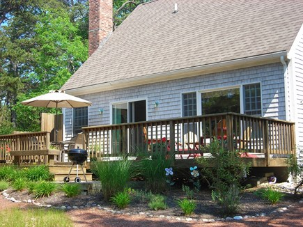 Wellfleet Cape Cod vacation rental - Large back deck and enclosed outdoor shower