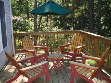 Wellfleet Cape Cod vacation rental - More back deck