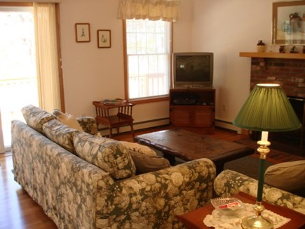 Wellfleet Cape Cod vacation rental - Living room with cathedral ceiling