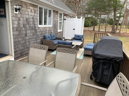 Orleans Cape Cod vacation rental - Deck/outdoor shower: gather with friends, family..and margaritas!