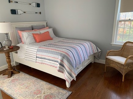 Orleans Cape Cod vacation rental - Queen room: lovely pond view, private 1/2 bath and huge closet!