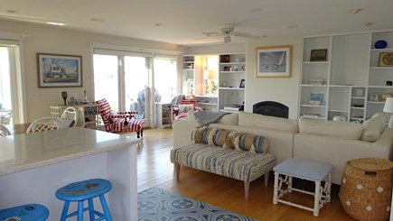 Wellfleet Cape Cod vacation rental - Open Living- Dining- Kitchen all with water views.