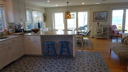 Wellfleet Cape Cod vacation rental - Eating counter, looking to dining area & screened porch.