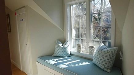 Wellfleet Cape Cod vacation rental - Window seat in 2nd floor hall.