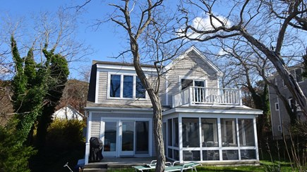 Wellfleet Cape Cod vacation rental - Facing the water/sunsets. Upper deck is from Main bedroom.