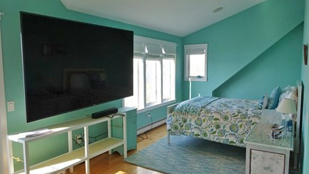 Wellfleet Cape Cod vacation rental - Large TV in Main bedroom with futon viewing area.