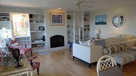 Wellfleet Cape Cod vacation rental - Living room with doors to deck.