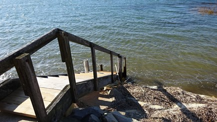 Wellfleet Cape Cod vacation rental - Stairs to Bay tidal water from this home directly in front