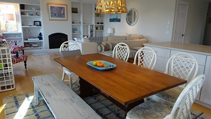 Wellfleet Cape Cod vacation rental - Dining area leads to screened in porch.