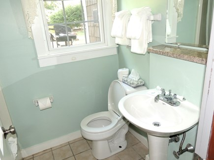 West Dennis Cape Cod vacation rental - First floor bathroom with shower/tub