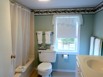 West Dennis Cape Cod vacation rental - Second floor bathroom with shower/tub