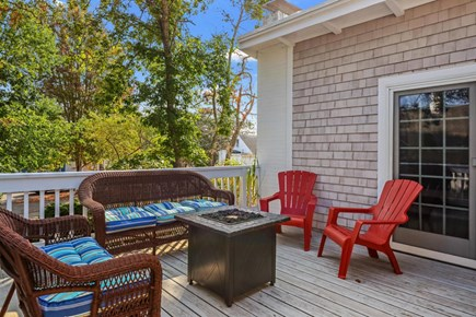 Falmouth Cape Cod vacation rental - Deck with Fire pit