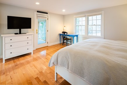 Orleans Cape Cod vacation rental - First floor master suite w/ new king bed, desk, smart TV