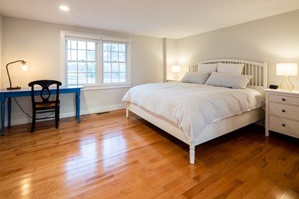 Orleans Cape Cod vacation rental - First floor oversized master suite with new king bed, desk, TV