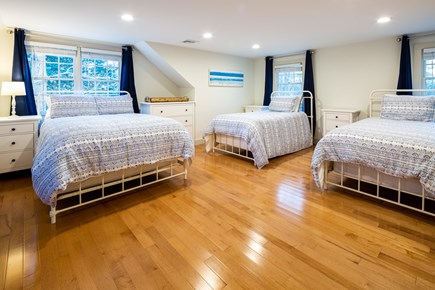 Orleans Cape Cod vacation rental - Upstairs bedroom with 1 double, 2 twins, desk