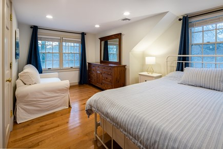 Orleans Cape Cod vacation rental - Upstairs bedroom with queen bed, loveseat, desk