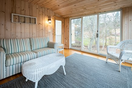 Orleans Cape Cod vacation rental - Sun porch w/ sleeper sofa (attached to master suite)