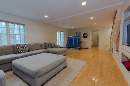 Centerville Cape Cod vacation rental - HUGE lower level family room with TV/blue-ray and Ping Pong Table